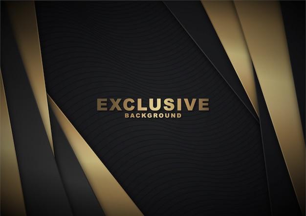 Luxeachtergrond met gouden abstracte vormen Premium Vector