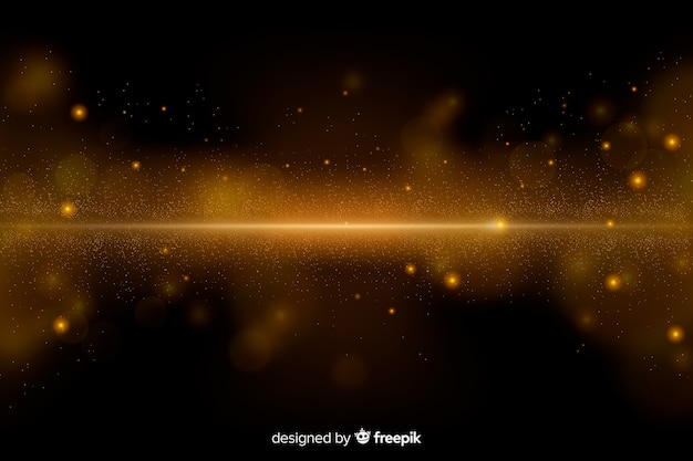 Luxeachtergrond met gouden deeltjes Premium Vector
