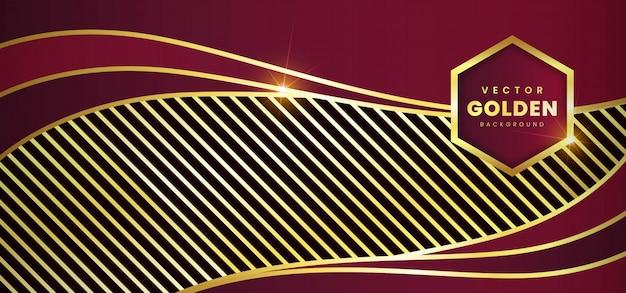 Luxeachtergrond met gouden vector Premium Vector