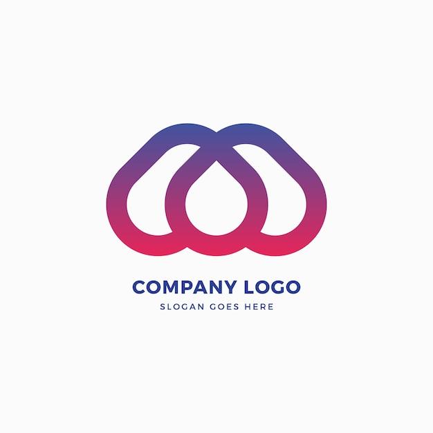 M letter drop logo-ontwerp Premium Vector