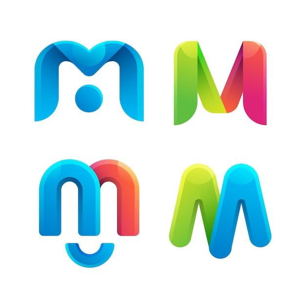 M logo collectie Premium Vector