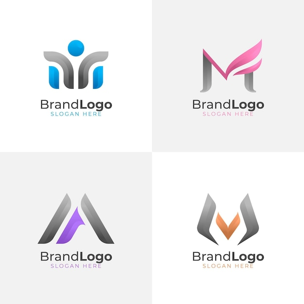 M logo collectie Premium Vector