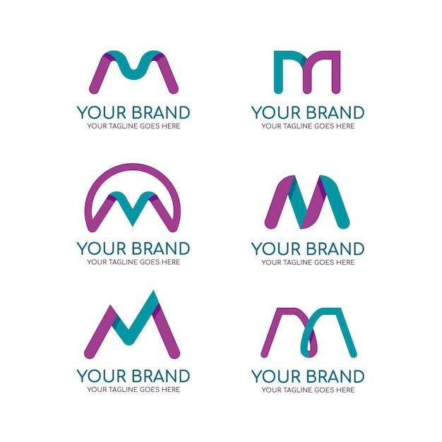 M logo collectie Gratis Vector