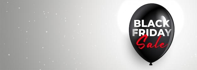 Maak de zwarte banner van de vrijdagverkoop met tekstruimte schoon Gratis Vector