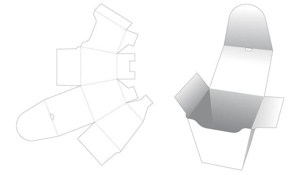 Maaltijdbox met gestanst sjabloon Premium Vector
