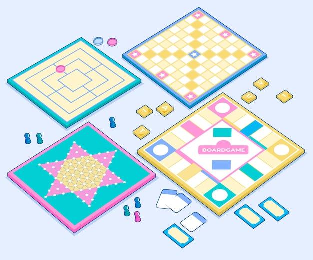 Maatschappij voor kaarten en pionbordspellen Gratis Vector