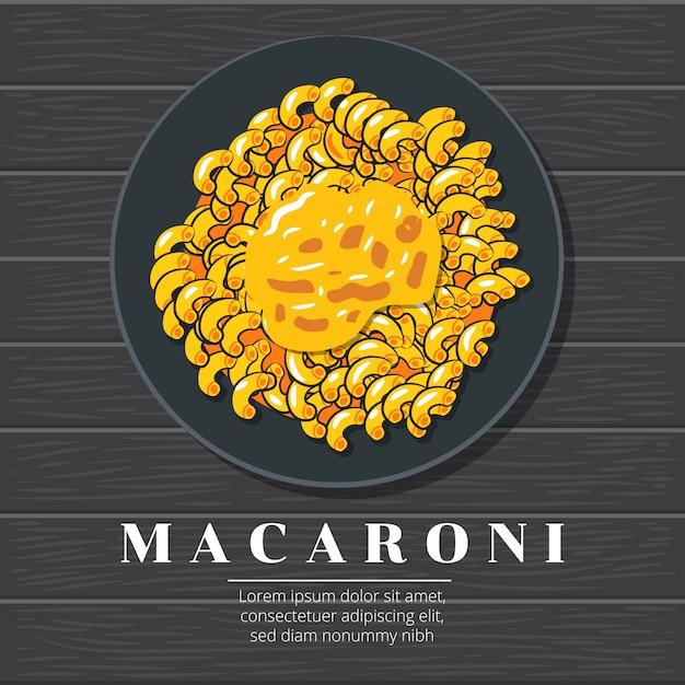 Macaroni vector grafisch ontwerp Premium Vector