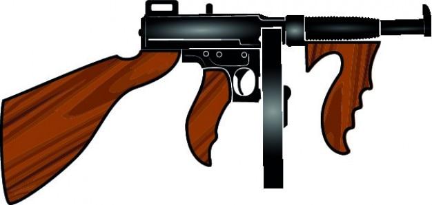Machinegeweer cartoon wapen vector Gratis Vector