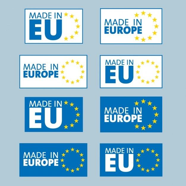 Made in europe Gratis Vector