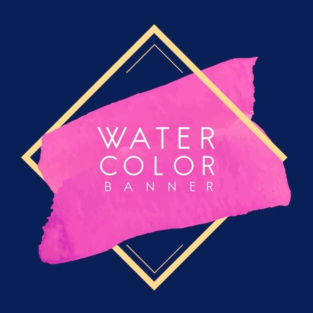 Magenta aquarel banner ontwerp vector Gratis Vector