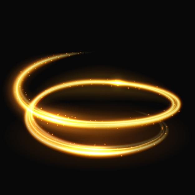 Magisch licht spiraalvormig glitz en glamour vectoreffect Premium Vector
