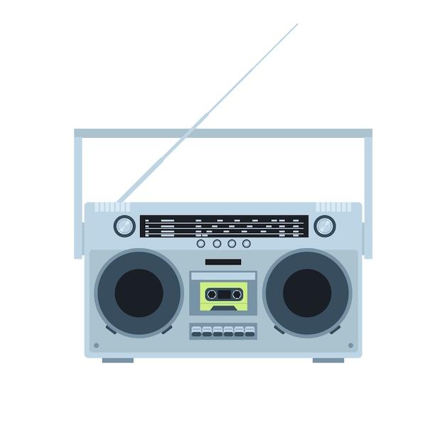 Magnetische cassetterecorder Premium Vector