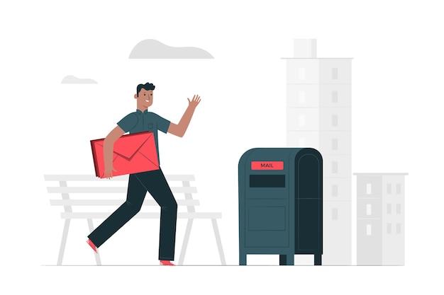 Mail concept illustratie Gratis Vector