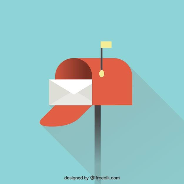 Mailbox achtergrond ontwerp Gratis Vector