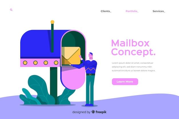 Mailbox concept illustratie Gratis Vector