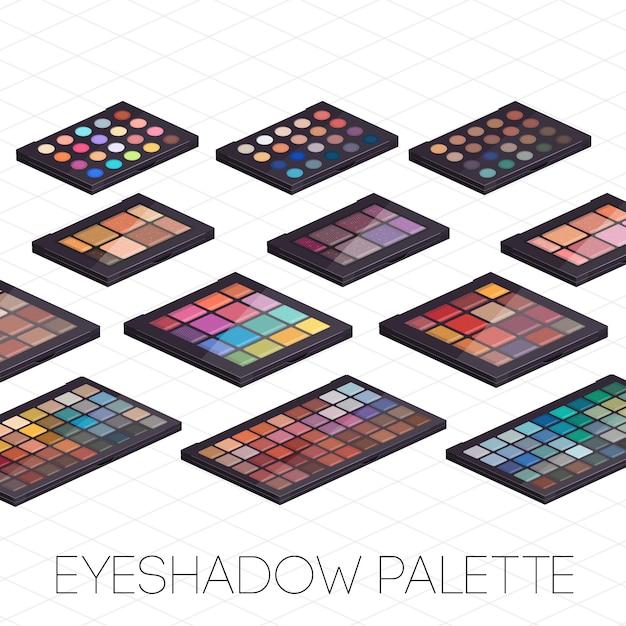 Make-up kit isometrisch Premium Vector