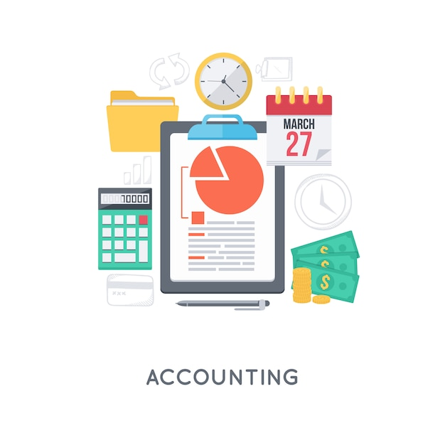 Management accounting concept Gratis Vector