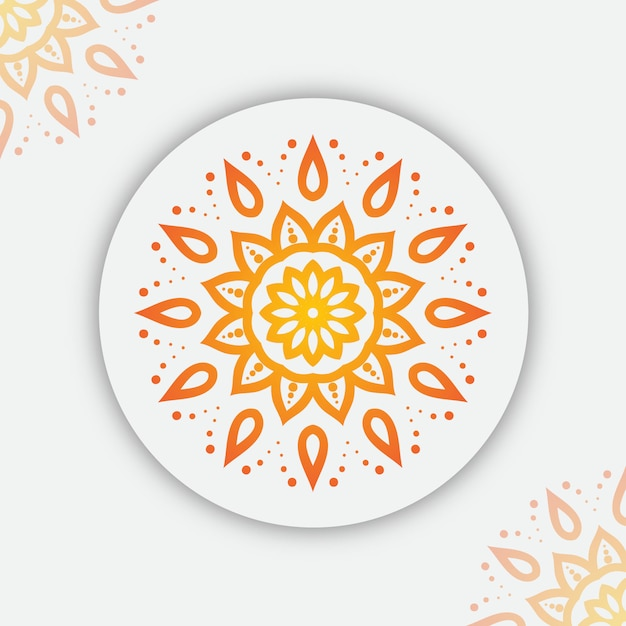 Mandala-achtergrond met kleurrijk gradiënt arabesque patroon Premium Vector