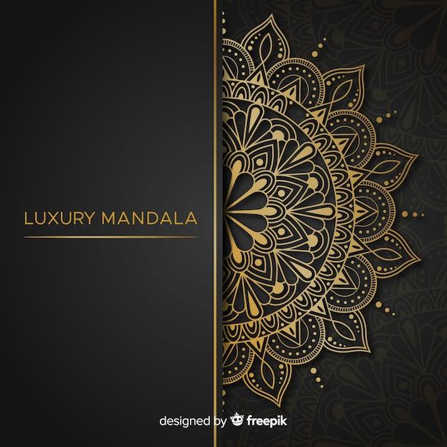 Mandala achtergrond Gratis Vector