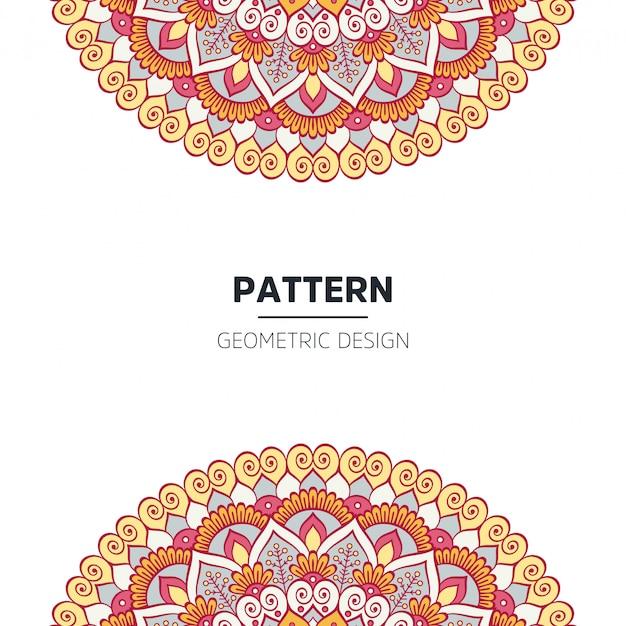 Mandala achtergrondontwerp Gratis Vector