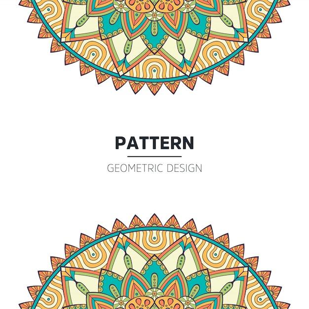 Mandala achtergrondontwerp Premium Vector