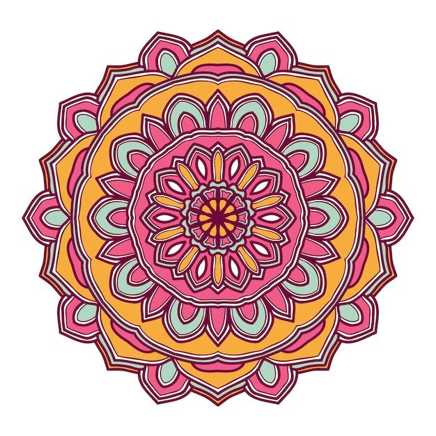 Mandala bloem illustratie vector ontwerp Premium Vector