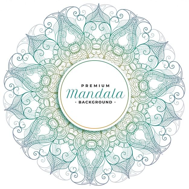 Mandala bloemsierkunst decoratief ontwerp Gratis Vector