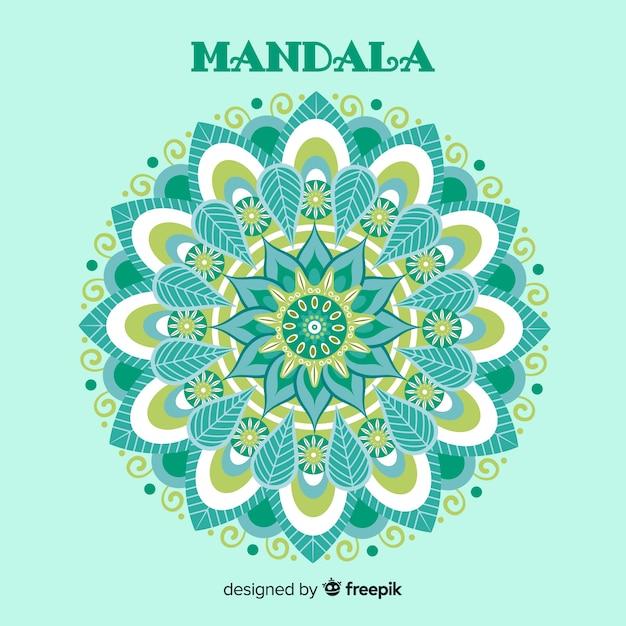 Mandala decoratieve achtergrond Gratis Vector