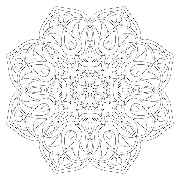 Mandala. etnische decoratieve elementen. hand getrokken achtergrond. islam, arabisch, indiaas, ottomaanse motieven. monochroom mandala symbool Premium Vector