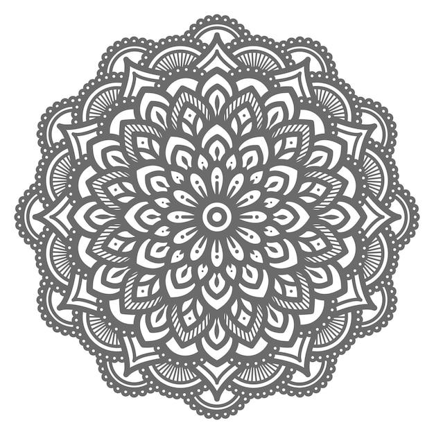 Mandala illustratie met etnische oosterse stijl Premium Vector