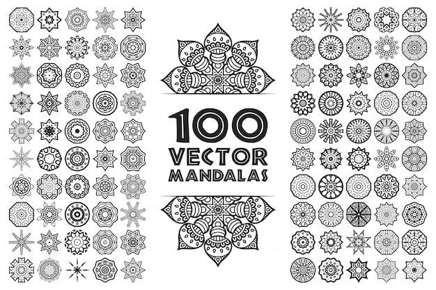 Mandala in etnische stijl Gratis Vector