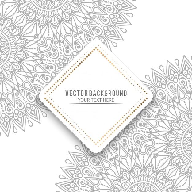 Mandala-kaart of uitnodiging met vintage decoratieve elementen Premium Vector
