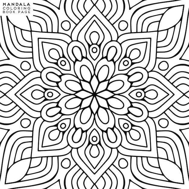Mandala kleurplaat Premium Vector