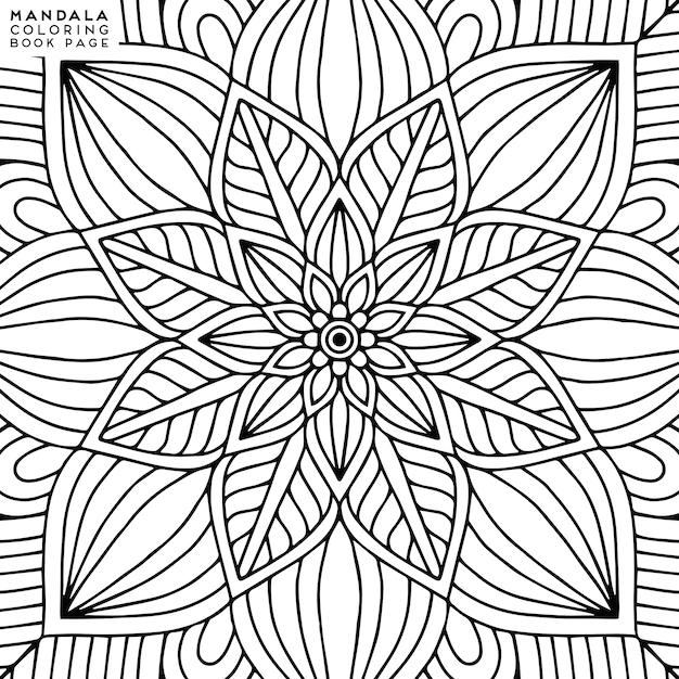 Beste Mandala kleurplaat | Premium Vector PL-19