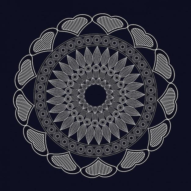 Mandala-meditatie-element Premium Vector