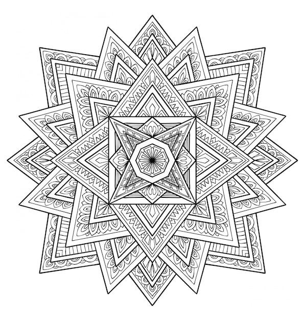Mandala ontwerp decoratie. kleurboek volwassen Premium Vector