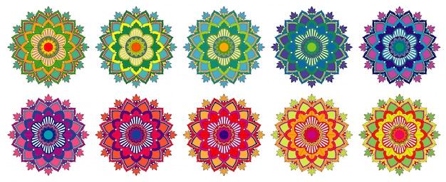 Mandala ontwerp geïsoleerd Gratis Vector