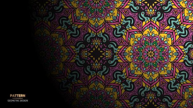 Mandala ontwerpachtergrond voor yoga, meditatie Gratis Vector