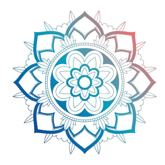 Mandala patronen Gratis Vector