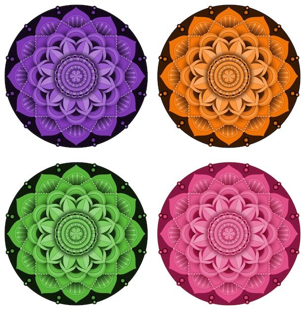 Mandala patroonontwerp op witte achtergrond Gratis Vector