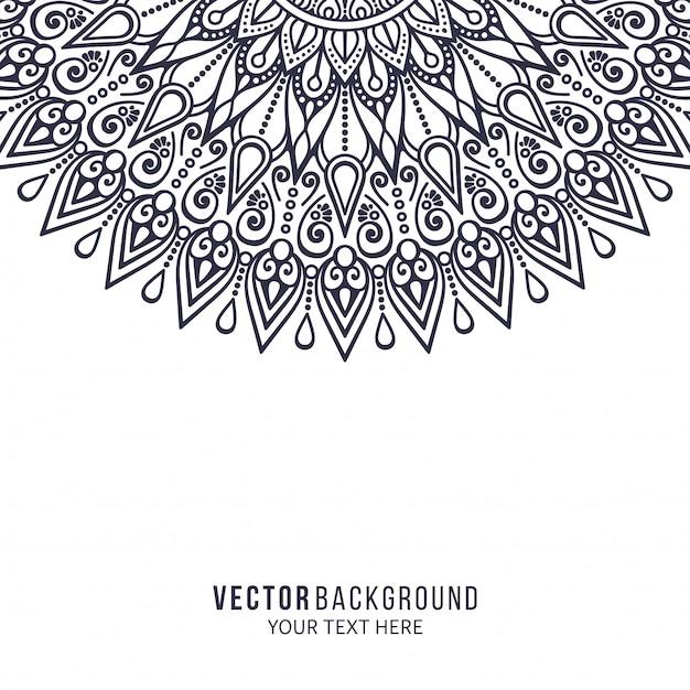 Mandala. rond ornamentpatroon. vintage decoratieve elementen Premium Vector