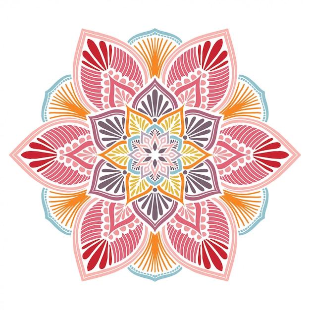 Mandala's kleurboek, oosterse therapie, yoga logo's vector. Premium Vector