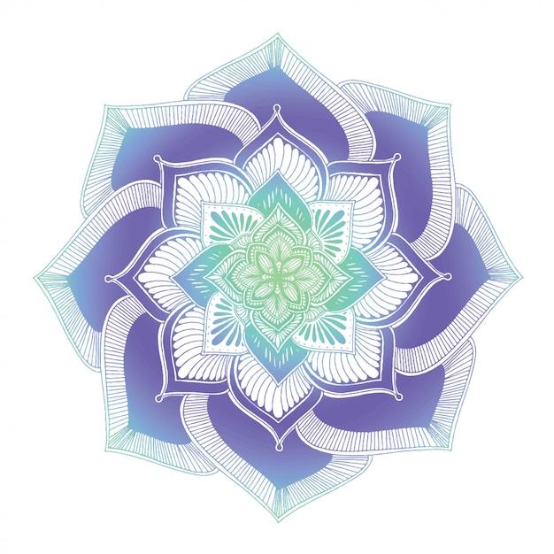 Mandala's kleurboek, oosterse therapie Premium Vector