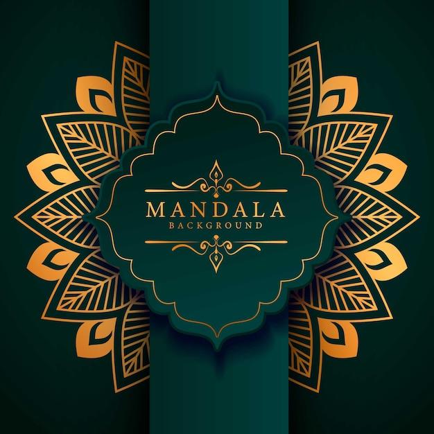 Mandala van de bloemluxe arabesque stijl als achtergrond Premium Vector