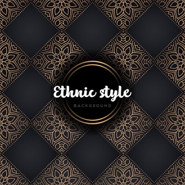 Mandala van het luxe de naadloze patroon Gratis Vector