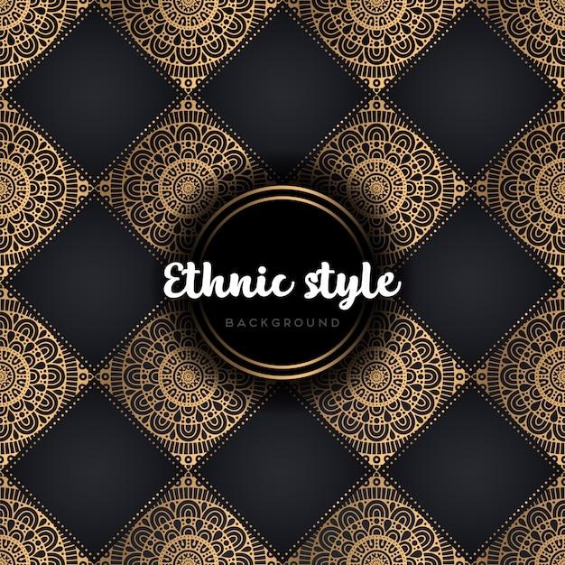 Mandala van het luxe naadloze patroon Gratis Vector