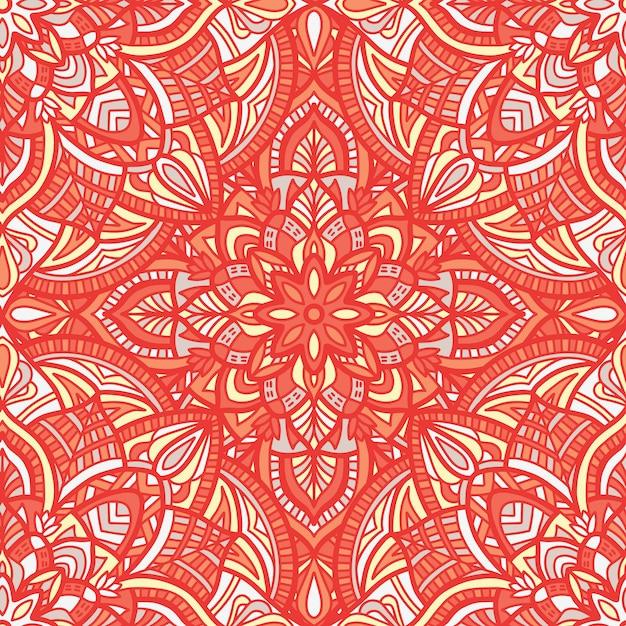Mandala vector naadloos patroon. tribal sieraad. Premium Vector