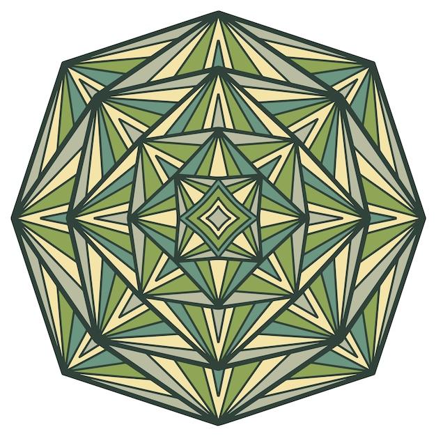Mandala vectorontwerp voor afdrukken. tribal sieraad. Premium Vector