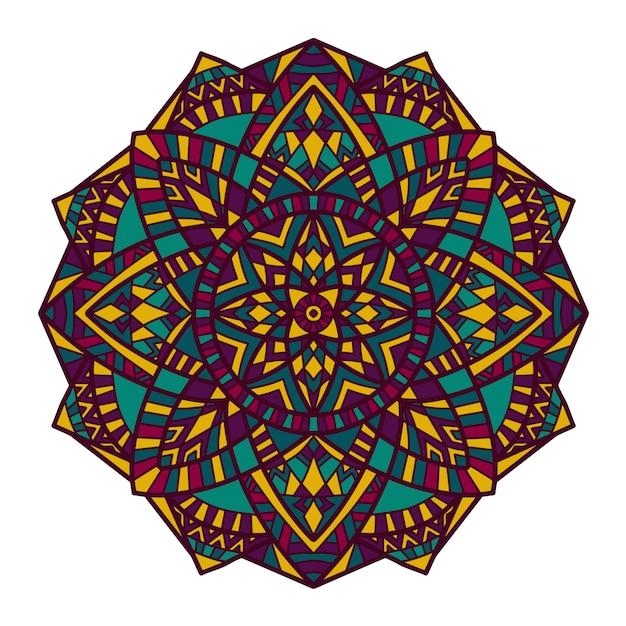 Mandala vectorontwerp voor afdrukken. Premium Vector