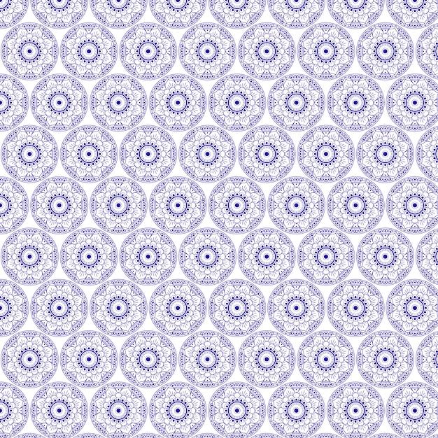 Mandalas patroonontwerp Gratis Vector